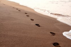 Christian, footsteps in the sand